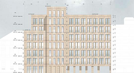 Myliusstrasse Frankfurt Wohnkomplex Pläne